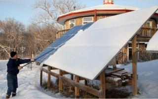 Как солнечные батареи работают зимой. PV калькулятор