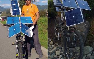 Электрический велосипед на солнечной энергии