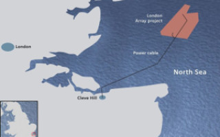 Британский премьер официально запустил крупнейшую ветровую электростанцию на воде