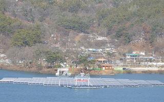 В Южной Корее строится первая плавучая солнечная электростанция