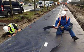 В Нидерландах появилась солнечная велодорожка