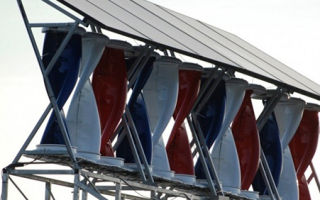 Гибридная установка по сбору ветровой и солнечной энергии