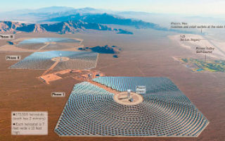 Солнечная электростанция Айвенпах (Ivanpah) прошла первое испытание