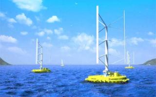 В Японии устанавливается первая в мире турбина, которая вырабатывает энергию от волн и ветра