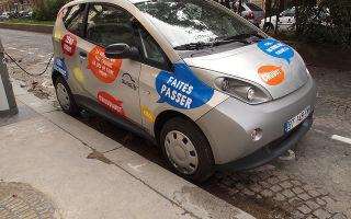 В Париже запустили систему совместного пользования электромобилями