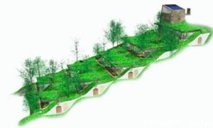 Дом с геотермальным отоплением на склоне горы в Японии
