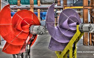Бесшумная ветряная турбина в форме розы