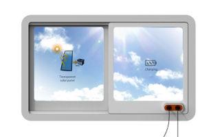 Окно с прозрачными солнечными батареями