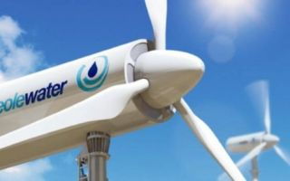 Ветротурбина Eolewater не только производит электричество, но и собирает воду из воздуха пустыни