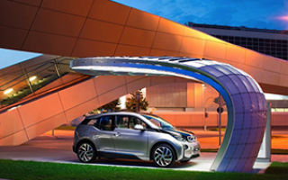 BMW Point.One S – станция зарядки электромобилей на солнечных батареях