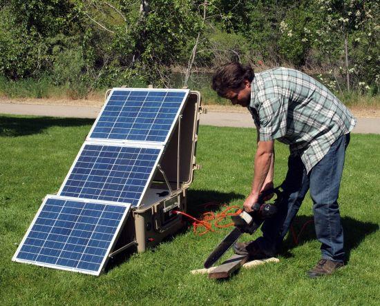 Suntrunk - мобильная энергетическая установка на солнечных элементах