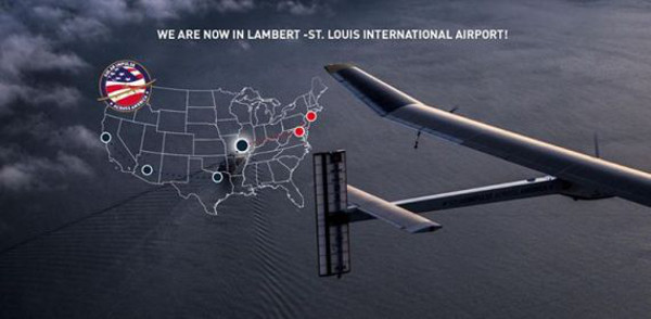 Перелет над Америкой на солнечном самолете