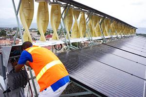 Самая большая в мире гибридная солнечно-ветряная установка