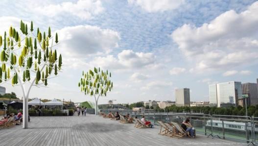 Искусственные деревья с мини-турбинами – новая альтернатива ветровым электростанциям