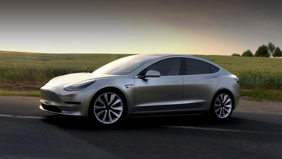Компания Tesla презентовала свой новый автомобиль - Tesla Model 3