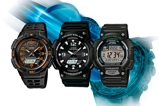 Мужские кварцевые спортивные часы Casio Analogue