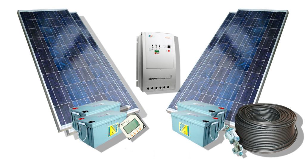 Стандартный набор комплектации для установки солнечных батарей