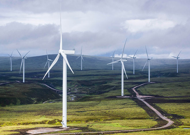 Британия получает большую часть энергии от ВИЭ